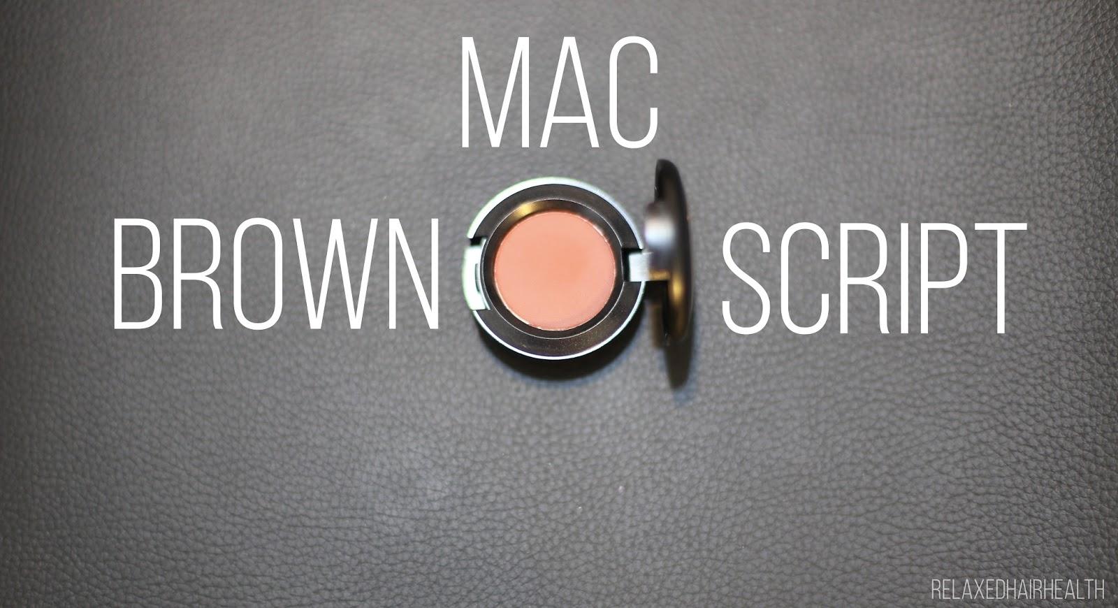 MAC Brown Script