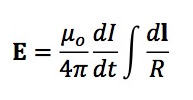 An equation to calculate the electric field during transcranial magnetic stimulation.