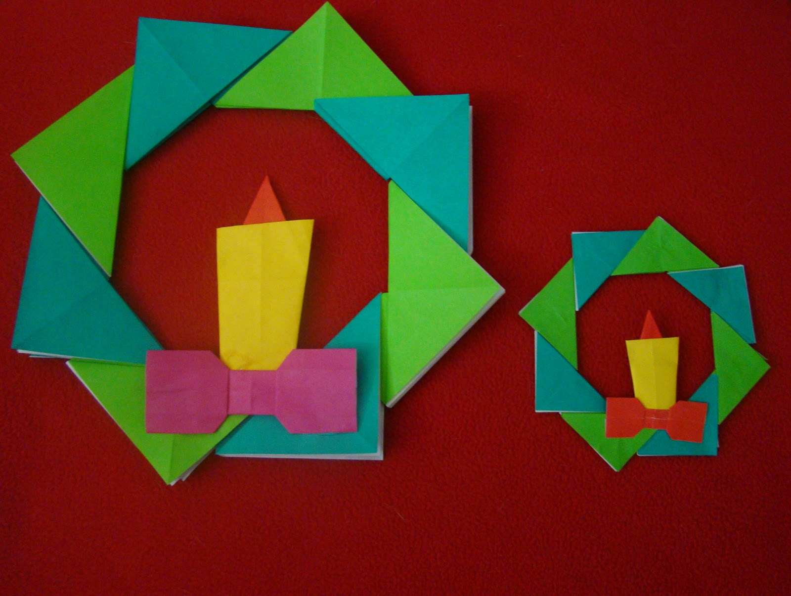 christmas origami diagram jcb alternator wiring maniacs wreath