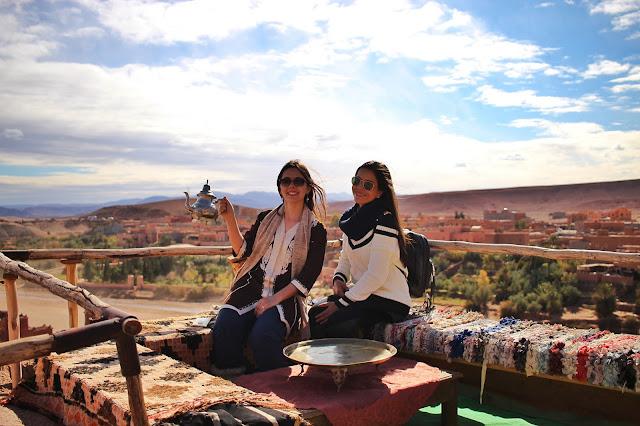 Em um mirante de Ait-Ben Haddou, em Ouarzazate, Marrocos.