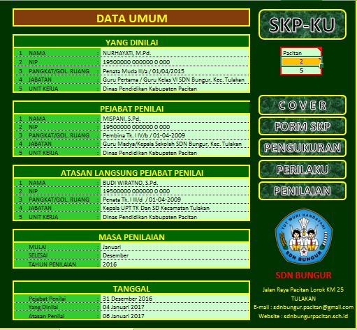 Aplikasi SKP Tahun 2017 Format Excel Final