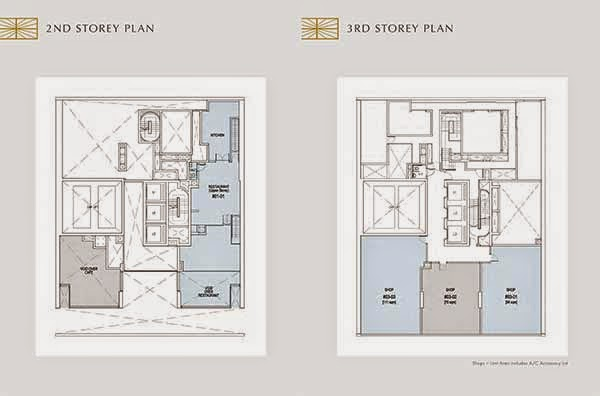 Crown @ Robinson 2nd and 3rd Storey Floor Plans