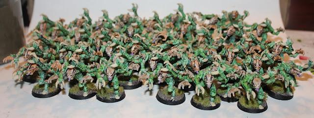 Warhammer 40k battle report - Maelstrom of War - Deadlock - 1000 points - Thousand Sons vs Tyranids, Hive Fleet Kraken.