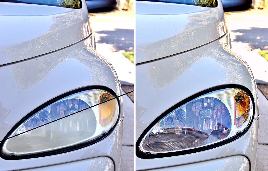 How to restore your headlights in 30 minutes.  #RoadTripOil #AD