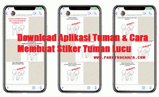 Aplikasi Tuman & Cara Membuat Stiker Tuman Lucu