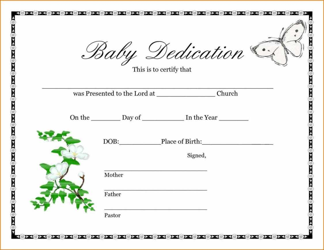 Certificate Templates Sample Birth Certificates
