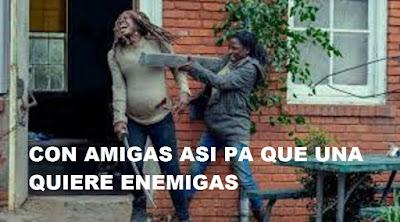 The Walking Dead 9x14 Michonne es golpeada por su amiga Jocelyn