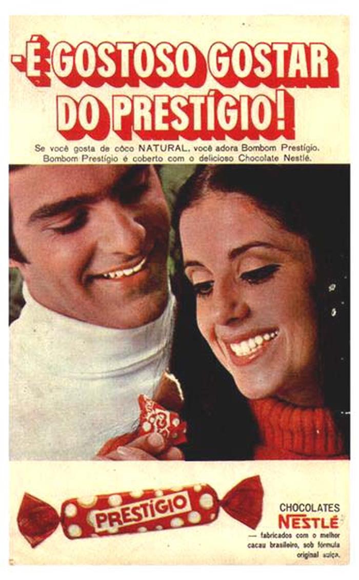 Propaganda antiga do Chocolate Prestígio em 1968