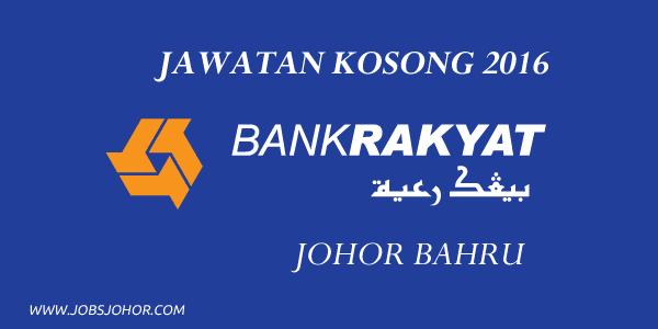 Jawatan Kosong Bank Kerjasama Rakyat Malaysia (Johor Bahru)