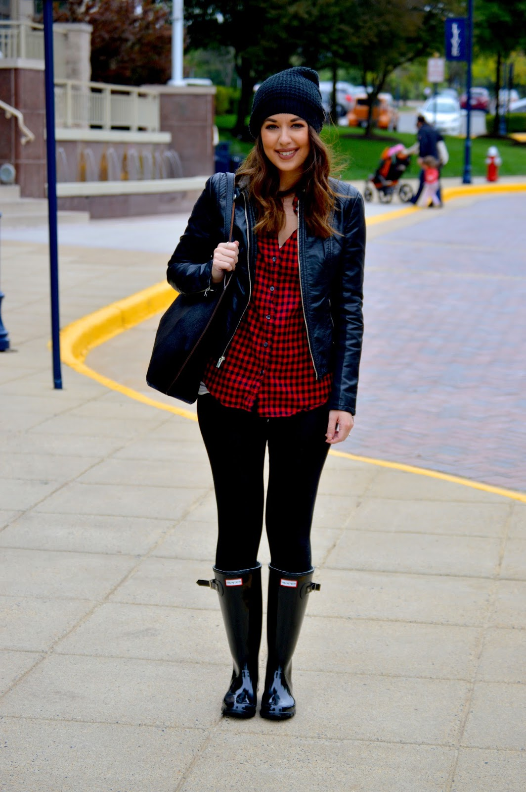 Rosy Outlook Rainy Day Outfit