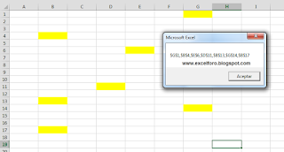 VBA: Listar celdas con mismo formato.