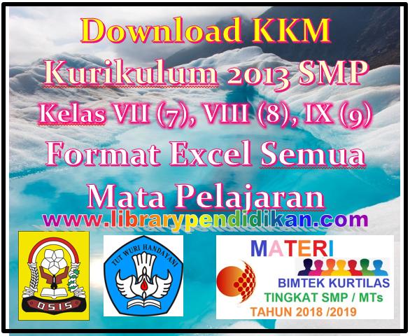 KKM Kurikulum 2013 SMP Kelas VII (7), VIII (8), IX (9) Format Excel Semua Mata Pelajaran-librarypendidikan.com
