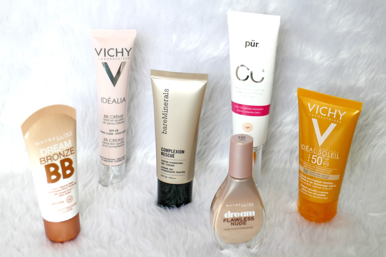 Summer Bases bareMinerals Maybelline Pur Minerals Vichy