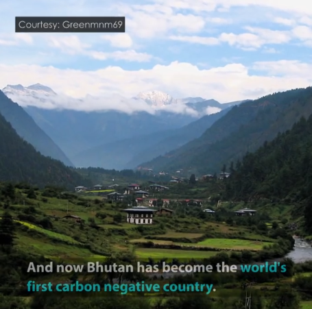 Bhutan - Karbon negatif ülke - Karbondioksit salınımı - Karbondioksit emilimi