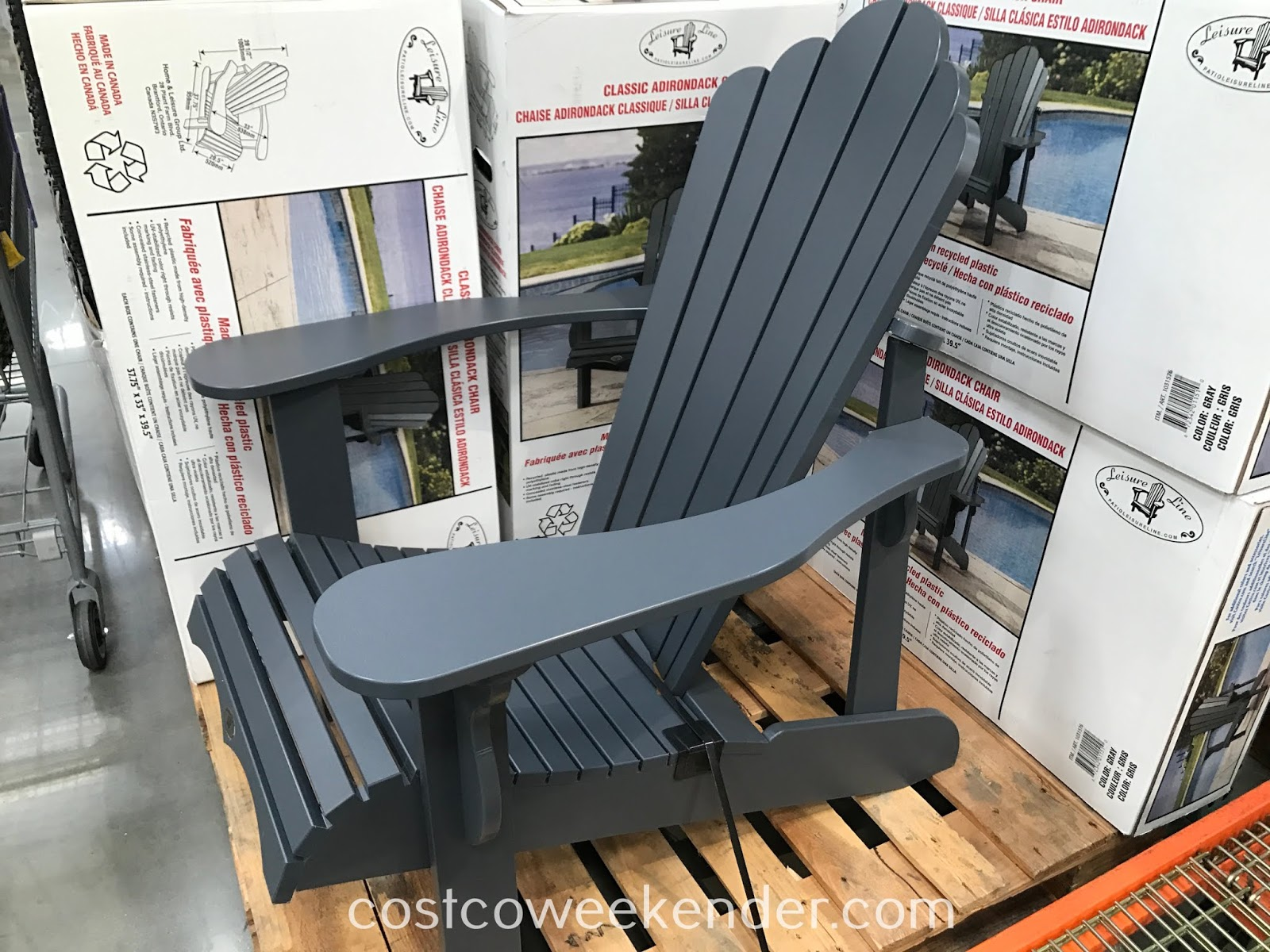 Relax in your backyard or patio on the Leisure Line Classic Adirondack Chair