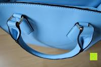 Henkel: Veevan Damen Elegante Top-Handle Schultertasche Handtaschen (Blau)