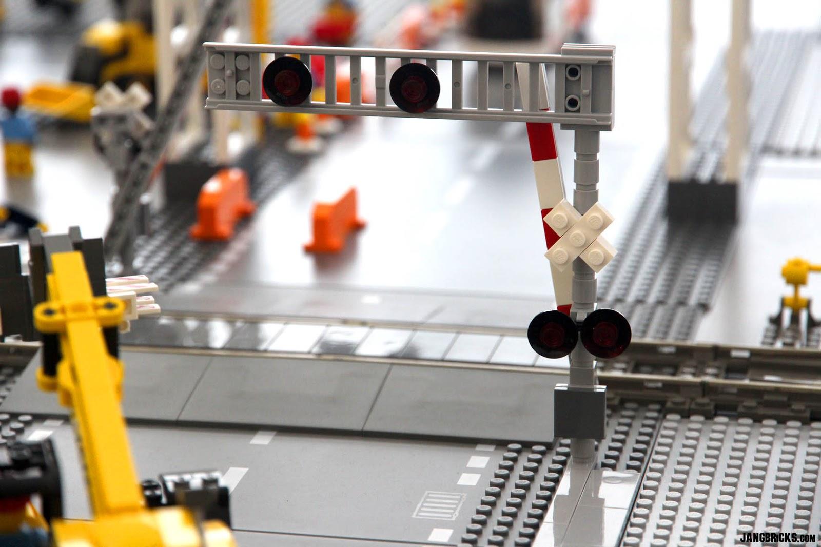 LEGO railroad crossing signals