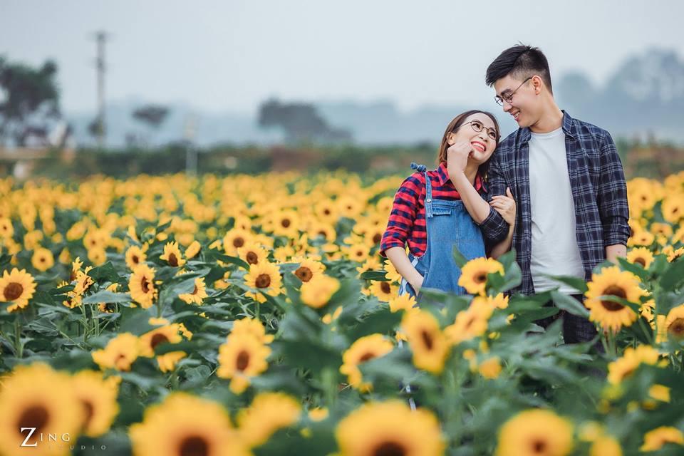 Giới trẻ 'phát sốt'' với vườn hoa hướng dương tại Bắc Giang -3