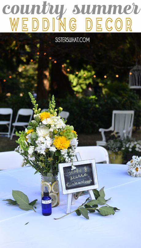 country flowers for a summer party or for a country summer outdoor wedding.