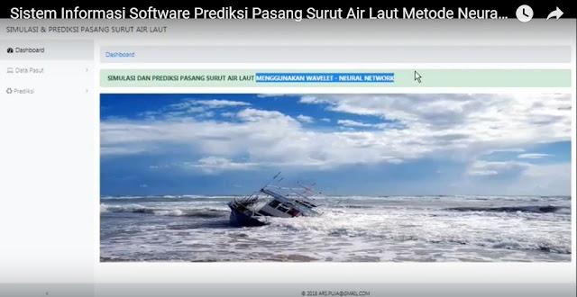 Sistem Informasi Software Riset Prediksi Pasang Surut Air Laut Metode Neural Network Berbasis Website