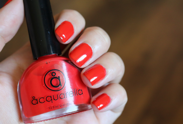 Acquarella Nail Polish in Zesty review swatches