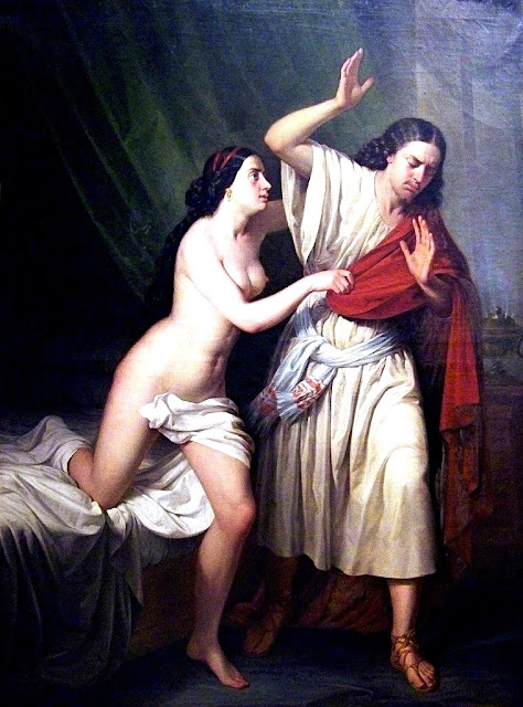 Antonio Maria Esquivel - Giuseppe e la moglie di Putifarre - erotismo - dipinti