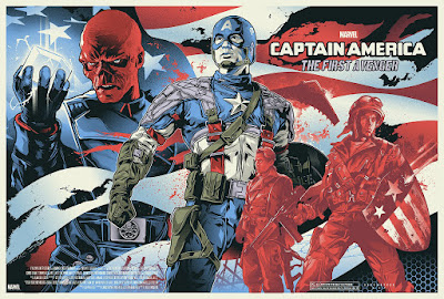 Captain America: The First Avenger Movie Poster Screen Print by Alexander Iaccarino x Grey Matter Art
