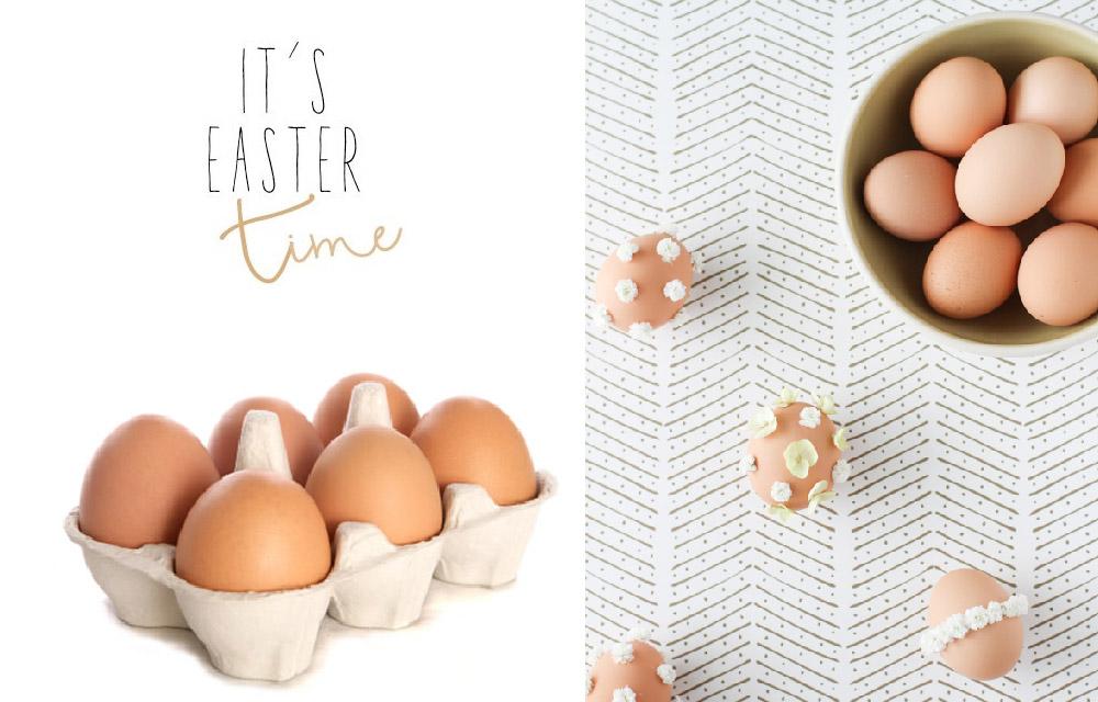un progetto DIY per decorare le uova con i fiori