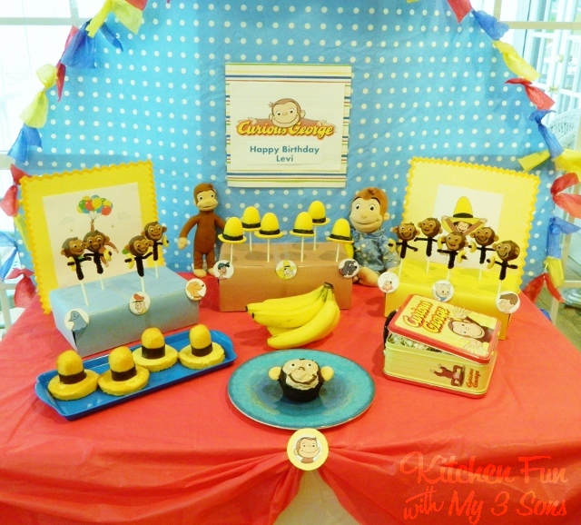Curious George Party With Lots Of Fun Food Ideas Kitchen Fun With My 3 Sons