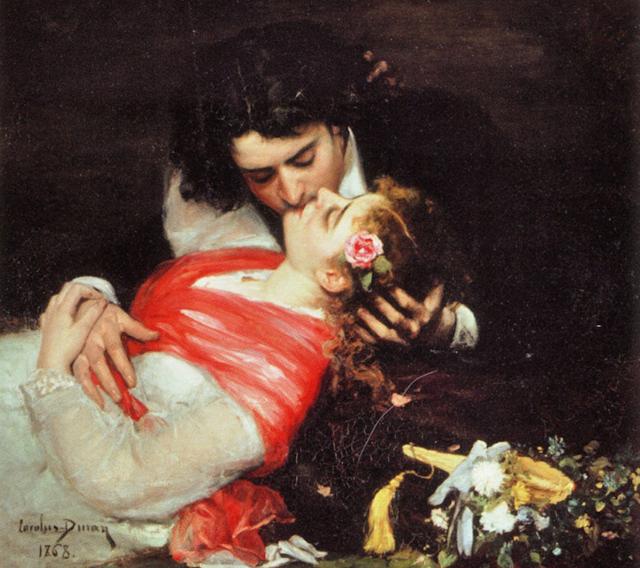 Огюст Дюран Поцелуй, 1868 г.