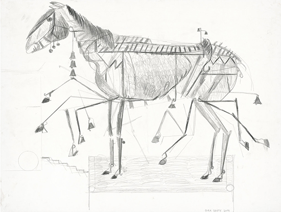 Dirk Zoete Moving Horse (5), 2015 pencil on paper 55 x 73 cm