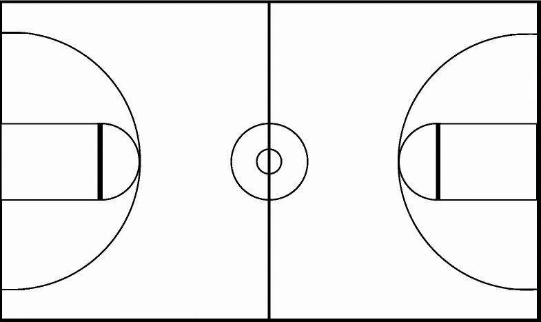 Click to see printable version of Cancha de Baloncesto Coloring page