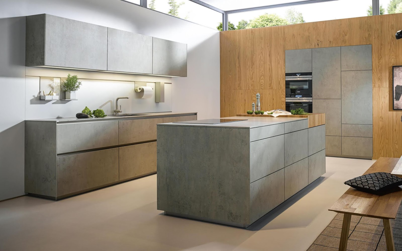 Diseño muebles de cocina: Diseño de cocina laminado en gris mate