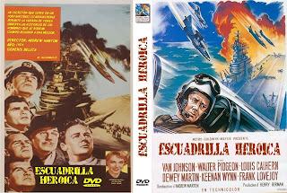 Carátula dvd: Escuadrilla heroica