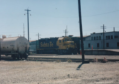 Atchison, Topeka & Santa Fe GP35u #2916 in Vancouver, Washington, in Summer 1997