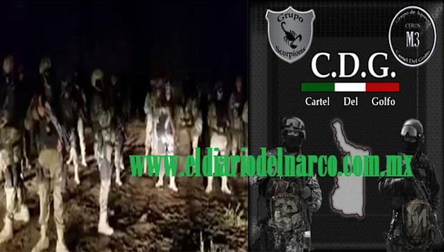 """VIDEO: El """"Grupo Escorpiones"""" del CDG creado por """"Tony Tormenta"""" regresa y anuncian su llegada a Reynosa y Río Bravo"""