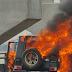 Omg! Ex-Beauty Queen Escapes Death As G-Wagon Catches Fire On Eko Bridge (Photos)