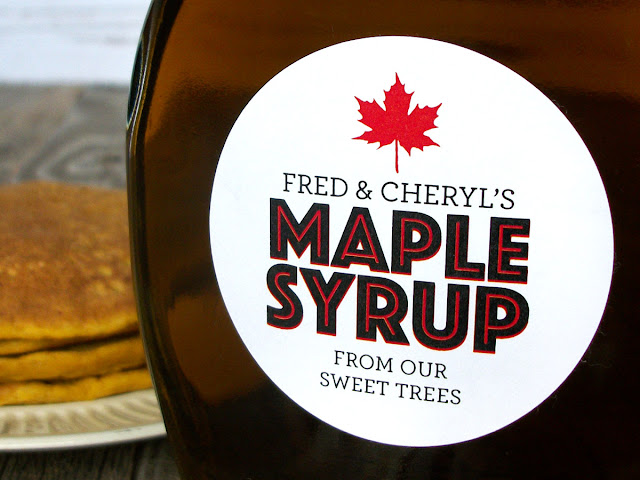 Custom Modern Maple Syrup Labels