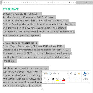 how to change indent to 5 on microsoft word 2016