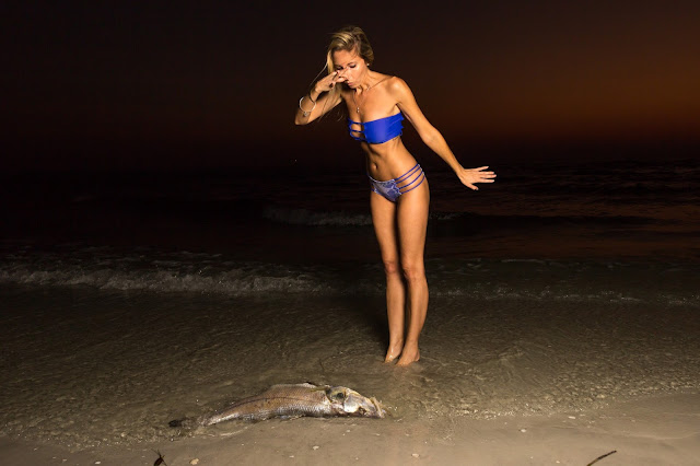 dead fish, dying fish, no fish, no life, ocean, save the ocean, beach, save the fishies, help the environment, fashion with passion, eco friendly, earth friendly, bikini, blogger, sunset, trident swimwear, photography, national geographic, Leonardo DiCaprio, global warming, climate change, pollution