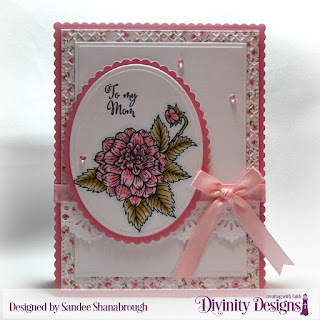 Divinity Designs Stamp Set: Grandmother's Heart, Custom Dies: Ovals, Scalloped Ovals, Scalloped Rectangles, Rectangles, Beautiful Borders, Pierced Rectangles, Embossing Folder: Cross Stitch, Paper Collection: Pretty Pink Peonies
