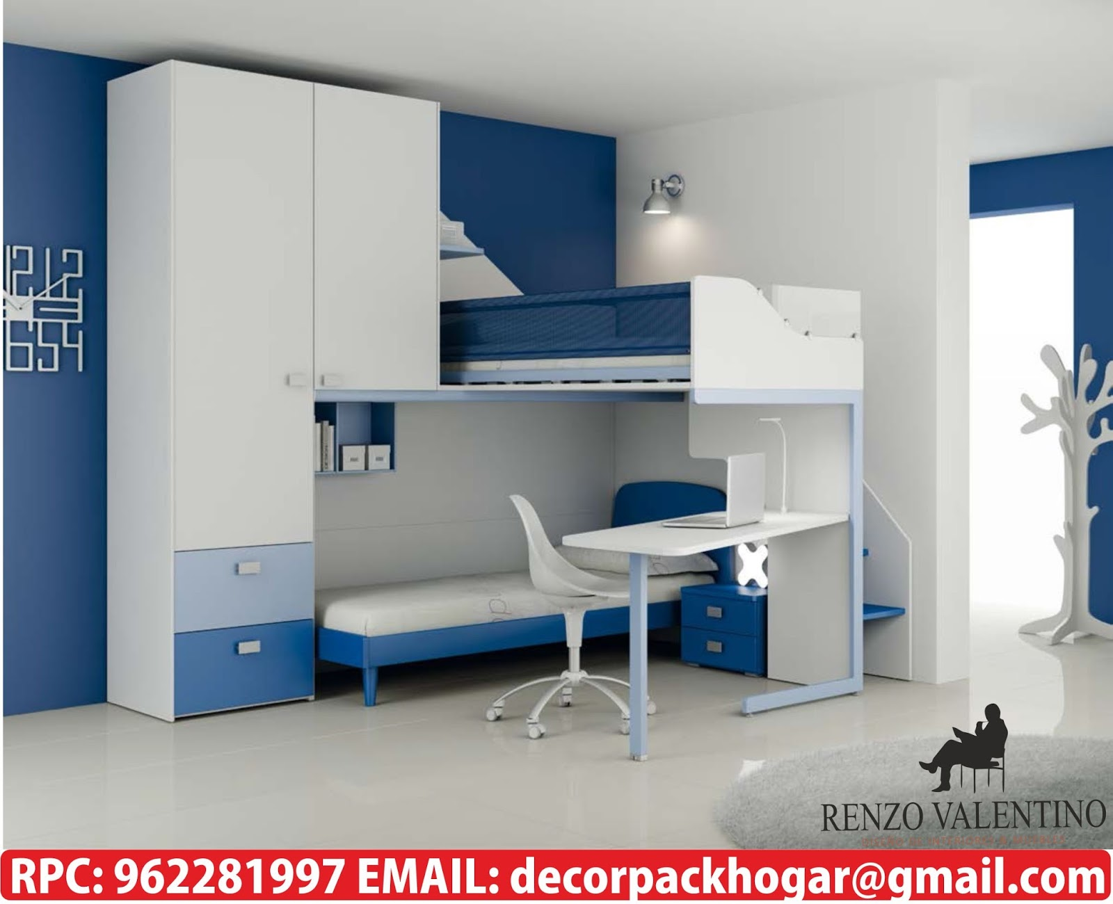 Dise os fabricacion de closet cocina y muebles de oficina for Amoblar departamentos pequenos