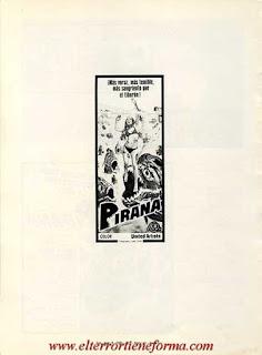 Guía Publicitaria de Cb Films de la película 'Piraña' Pag. 7