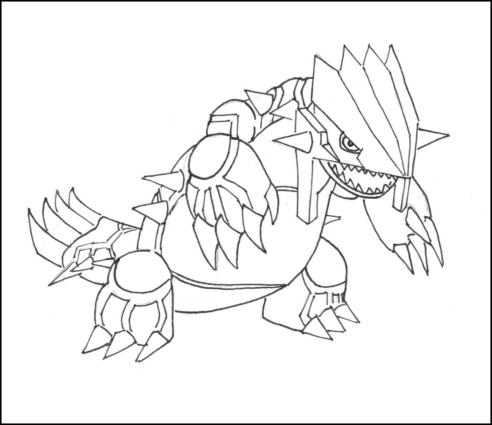 Pokemon groudon coloring pages coloring pages for Primal groudon coloring page
