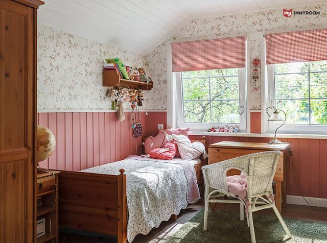 camera de fata, roz, rustic