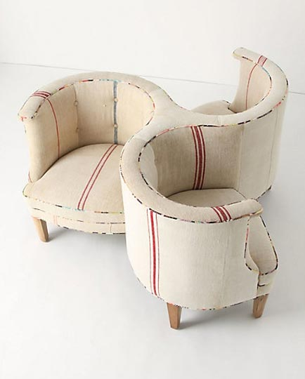 Sandy's Design Blog: Best Chair for a Tete-A-Tete