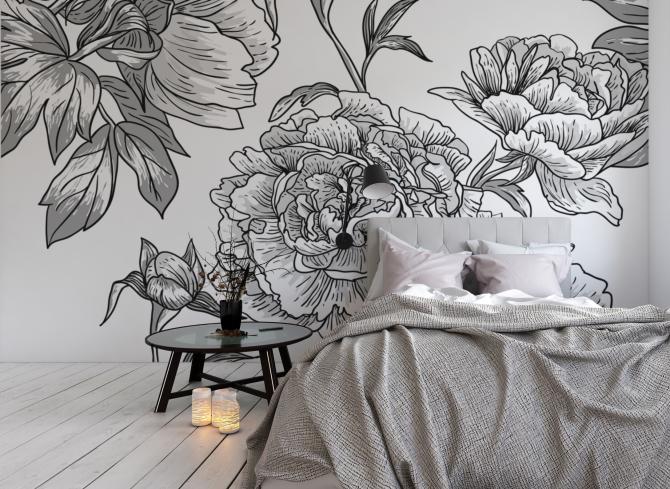 Vinilos De Flores Para Alegrar Tu Casa: Decoración Patri-Blanco