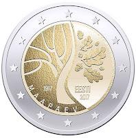 eesti itsenäisyys 2 euroa 2017 kolikko