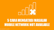 5 Cara Mengatasi Masalah Mobile Network Not Available di Android