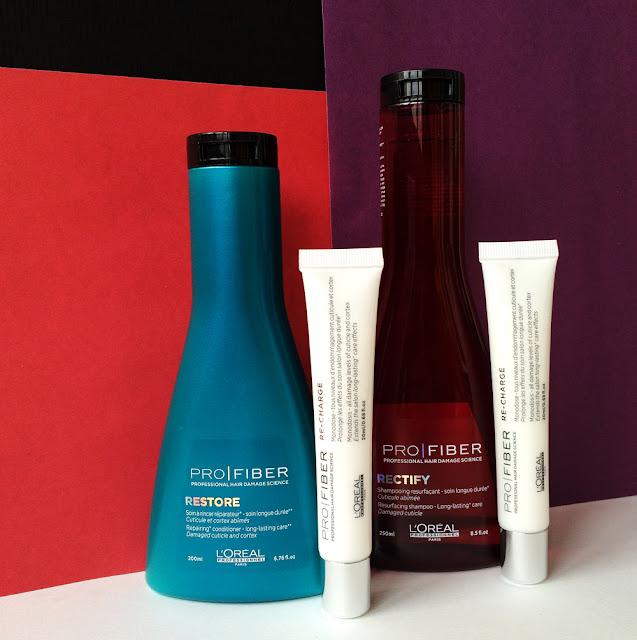 Шампунь Rectify, кондиционер Restore и концентрат Re-Сharge, Pro Fiber от L'Oréal Professionnel.